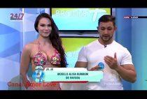 Modelo nua gostosa Ao Vivo na TV mostrando a buceta e o cu grande